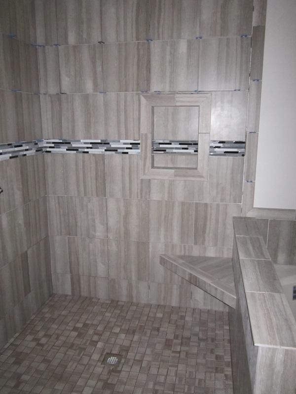 12x24 Tile Installation Custom Showers - Riggs Flooring